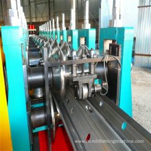 Road crash barrier forming machine